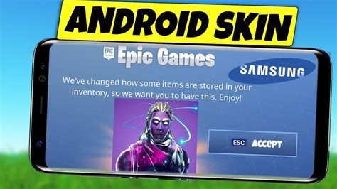 fortnite mobile android  release  galaxy skin