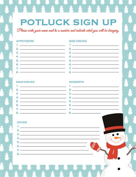 christmas sign up sheet potluck signup sheet bravebtr