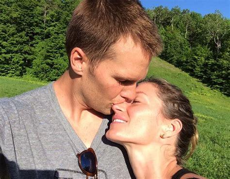 photo tom brady kisses giseles nose    super