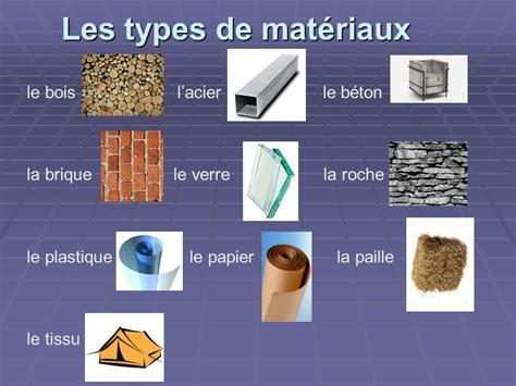 chaise paille le choix des matériaux de construction ppt