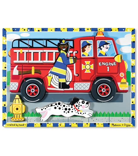 my 1st chunky puzzle 6 pieces 12 quot x9 quot fire truck jo ann