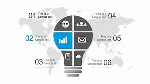 Free Lightbulb Six Segments Powerpoint Diagram