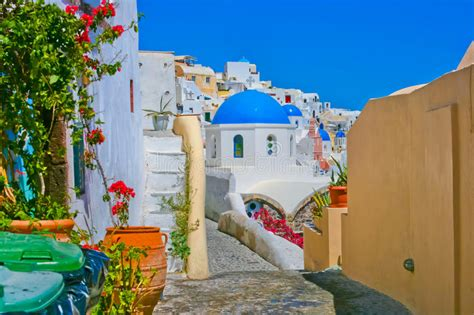 Magic View Of Oia In Santorini Stock Image Image 19642693