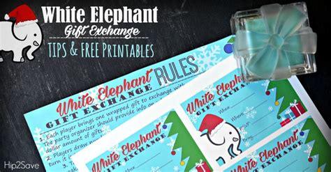 white elephant gift exchange tips   printables