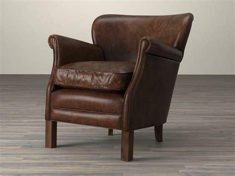 professor s leather chair 3d model restoration hardware