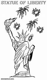 Liberty Statue Coloring Pages Colouring Colorings sketch template