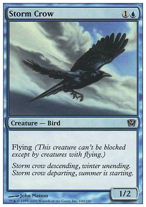 storm crow 9ed mtg card
