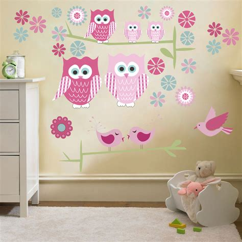 Childrens Cute Owls Twit Twoo Wall Stickers Decals Nursery