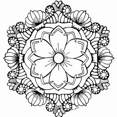 Mandala Coloring Flower Pages Adults Mandalas Lotus