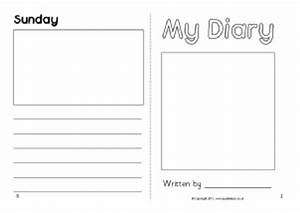diary writing frames and printable page borders ks1 ks2 With diary writing template ks1