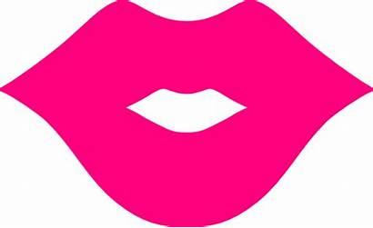 Lips Pink Clip Clker Clipart Cliparts Vector