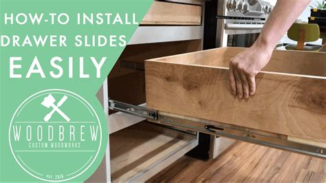 kitchen cabinet drawer slides how to install cabinet drawers slides woodbrew 5388