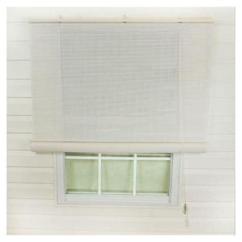 white interior exterior roll up patio sun shade 120 in