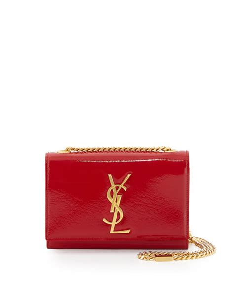 monogram small crossbody bag red yves saint laurent