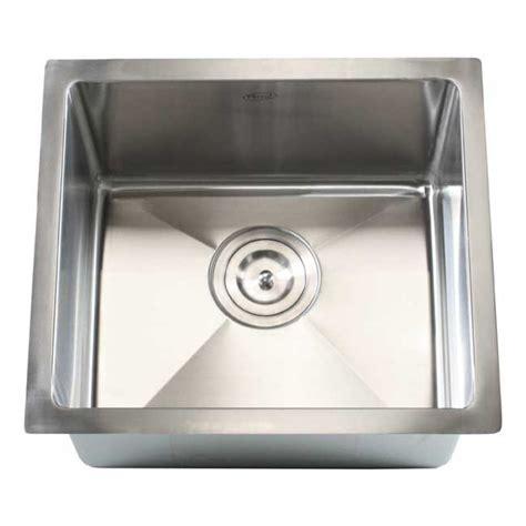 raised kitchen sink ariel 17 inch stainless steel undermount single bowl 1715