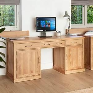 Abdabs Furniture Large Hidden Office Twin Pedestal Desk