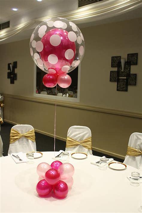 bubble balloon centerpiece