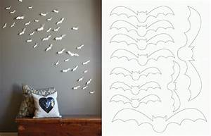 diy simple and easy paper bat wall art diy make it With paper wall art