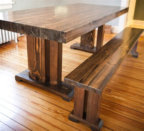 Farm Style Wood Dining Table With Well Made Solid Wood