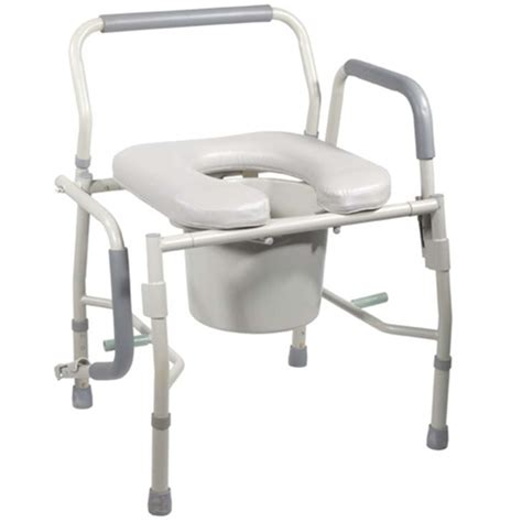 bedside commode chair cvs drive drop arm commode with padded seat arms at