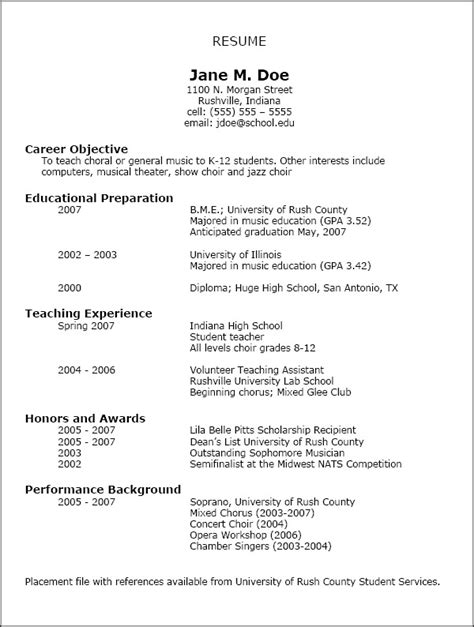 Writing Resume Exles by Resumes National Association For Education Nafme
