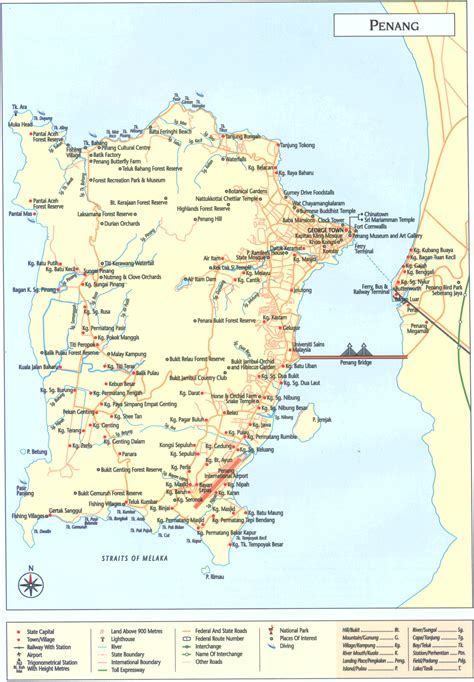 penang island map penang island penang island