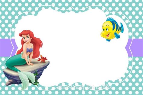 printable  mermaid invitation invite em