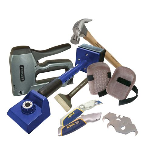 Carpet Fitters Tool Kit  With Complete List Of Carpeting