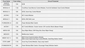 Kia Sportage - Driver U2019s Side Fuse Panel  Relay Panel