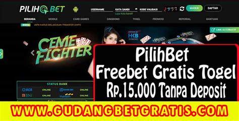 Freebet Gratis Togel Rp.15.000 Tanpa Deposit - PilihBet ...
