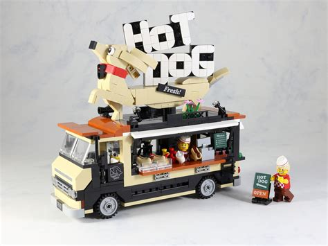 hot dog food truck hellobricks