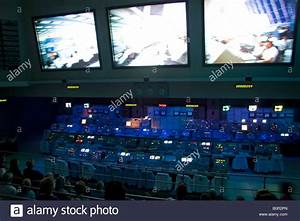 NASA control room for the Apollo 11 manned mission to land ...
