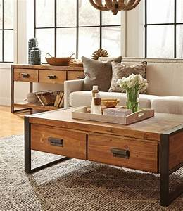 1000 ideas about industrial coffee tables on pinterest With pine and metal coffee table