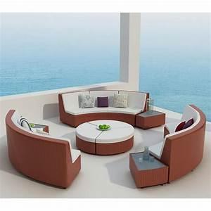 Salon De Jardin Rond : salon de jardin rilasa rond modulable en r sine tress e ~ Dailycaller-alerts.com Idées de Décoration