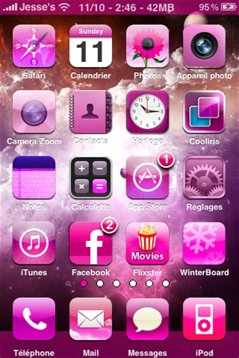 pink phone themes pink iphone themes