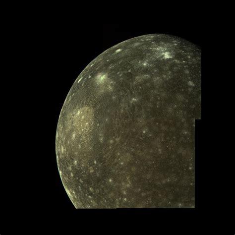 11.9: Jupiter's moon Callisto: the giant impact basin ...