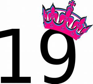 Pink Tilted Tiara And Number 19 Clip Art at Clker.com ...