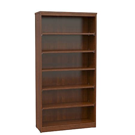 Office Stor Plus Bookcase 5 Shelf Executive Cherry By
