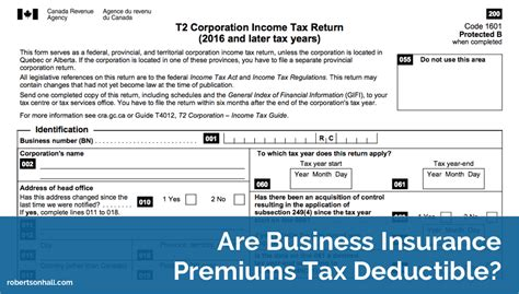 business insurance premiums tax deductible