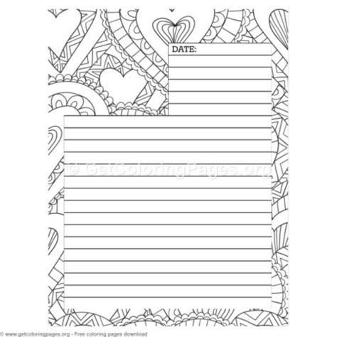 printable blank journal pages getcoloringpagesorg