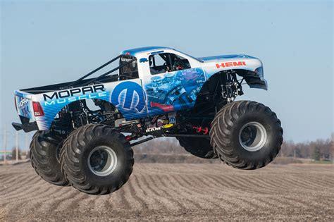 video of monster trucks mopar muscle is a hemi powered ram monster truck