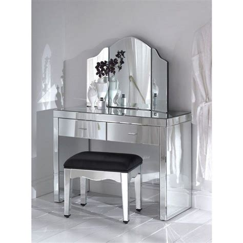 mirrored makeup storage   stylish   unclutter  vanity table  bathroom decor