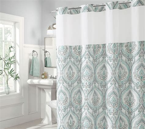 hookless french damask shower curtain  built  liner