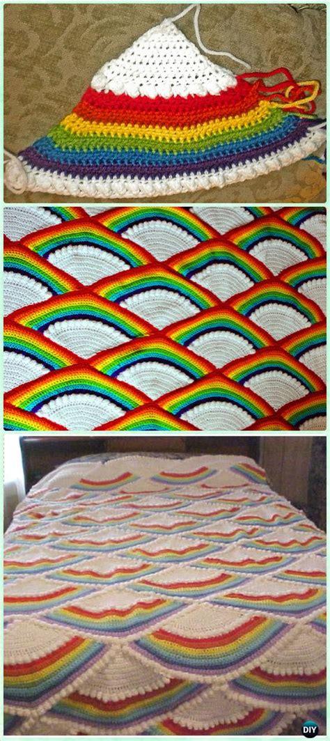 crochet rainbow blanket  patterns