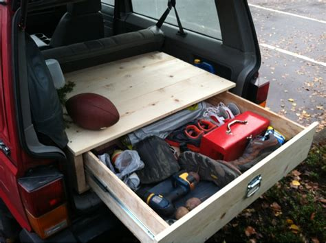 jeep wood box trunk drawer jeep cherokee forum