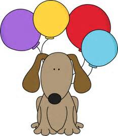 Happy Birthday Clip Art with Dogs