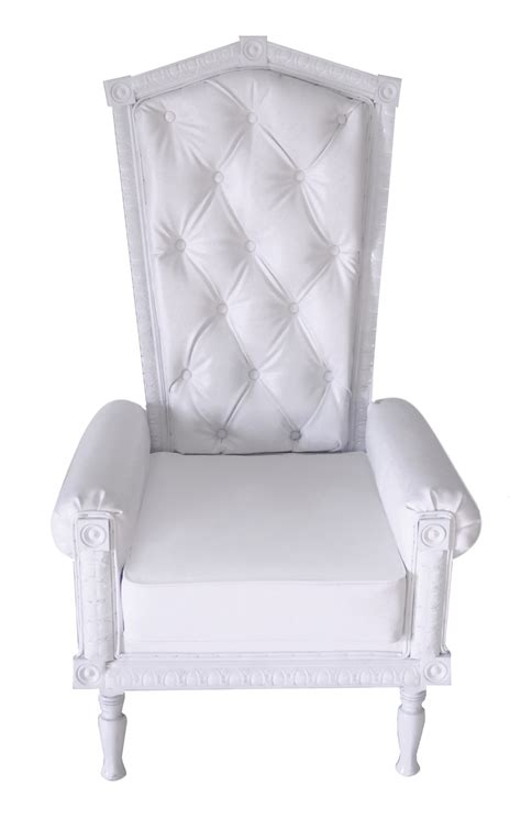 throne chair white chic event wedding and tradeshow