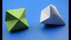 How To Make a Paper Diamond |Origami| DIY CRAFT IDEAS, My ...