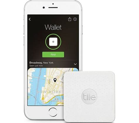 Buy Tile Bluetooth by Buy Tile Slim Bluetooth Tracker White Free Delivery