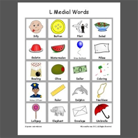 l words for l medial words